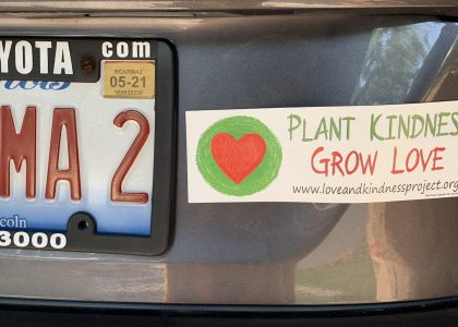 Plant Kindness – Grow Love Bumper Stickers