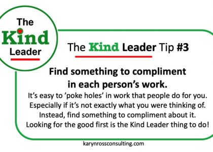 The Kind Leader Newsletter #3